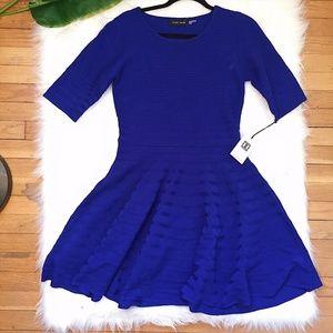 🎉 NWT 🎉 Ivanka Trump Blue Knit Sweater Dress M